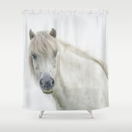 Horse eyes look at you Shower Curtain