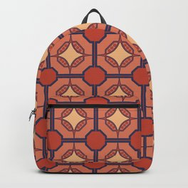 O Despertar Portuguese Azulejo Tile Pattern Backpack