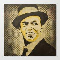 frank sinatra Canvas Prints featuring Frank Sinatra by Jarod Lew
