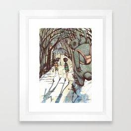 back to skool Framed Art Print