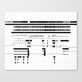 Music Production Canvas Print