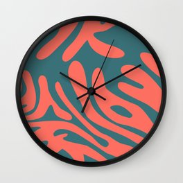Living Coral in the Deep Sea - Pantone Color Trend 2019 Wall Clock