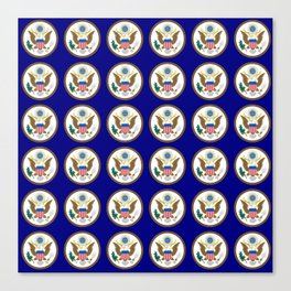 seal of usa-america,usa,eagle,patriotic,patriot,united states,seal,insignia,E pluribus unum,us Canvas Print