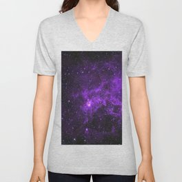 Ultraviolet Space Nebula Unisex V-Neck