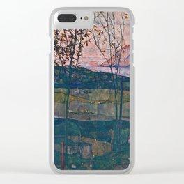 Egon Schiele - Setting Sun Clear iPhone Case