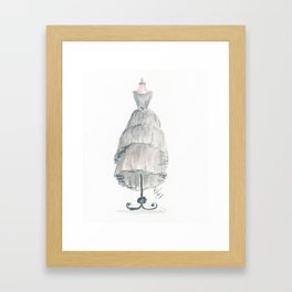 The Gray Dress Framed Art Print