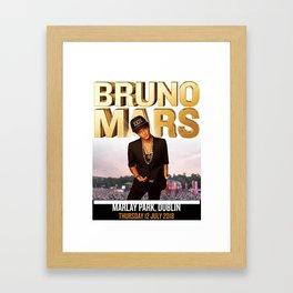 brunomars tour world 2018 Framed Art Print