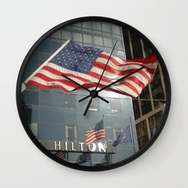 Flag Stars & Stripes Millenium Hilton Ground Zero Wall Clock
