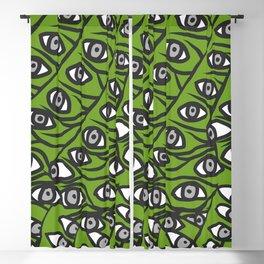 Freddie Eyeballs Avocado Green Blackout Curtain