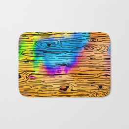 Technicolored Dream Plank Bath Mat