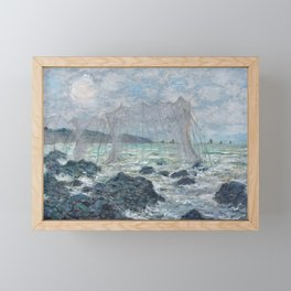 Fishing Nets at Pourville by Claude Monet Framed Mini Art Print