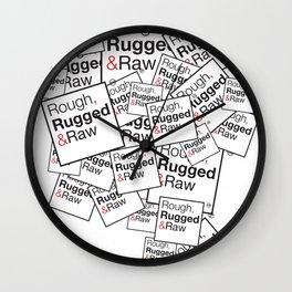 Rough, Rugged&Raw Wall Clock