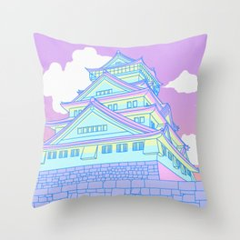 Osaka Castle Throw Pillow