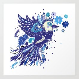 Blue Phenix Art Print