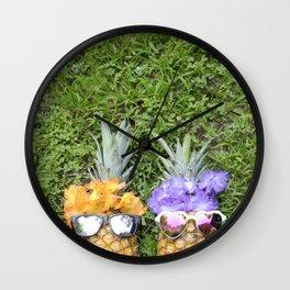 Pineapple Pals Wall Clock