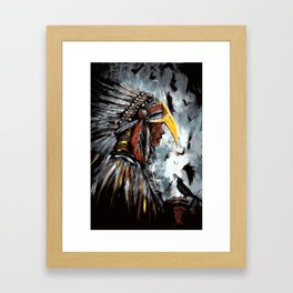 Christina of the Feathers Framed Art Print