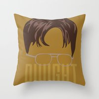 dwight Throw Pillows featuring Dwight and you by Ally Simmons