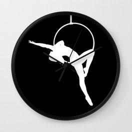 Lyra Aerialist Silhouette Wall Clock