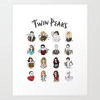 twin peaks Art Prints featuring twin peaks by Bunny Miele
