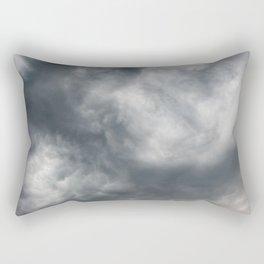 Gloomy billowy sky stormy weather Rectangular Pillow