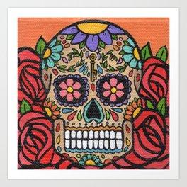 Rosas y Naranjas Art Print