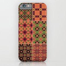 Violet, Pink & Green Patchwork Pattern iPhone 6s Slim Case