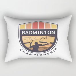 Badminton Badge Rectangular Pillow
