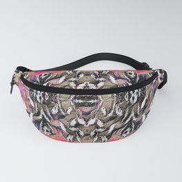 Silver Brocade on Pink Fanny Pack