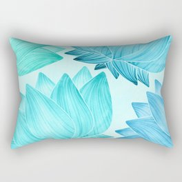 Lotus Love II / Zen Teal Palette Rectangular Pillow
