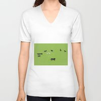 football V-neck T-shirts featuring Football by Rubans