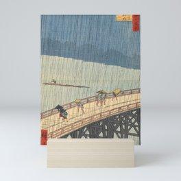 Sudden Shower over Shin-Ohashi Bridge, Hiroshige Mini Art Print