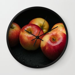 An apple a day keep doctor away Wall Clock