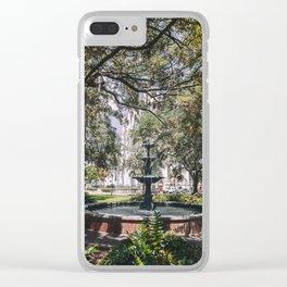 Lafayette Square - Savannah, Georgia Clear iPhone Case