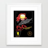 flcl Framed Art Prints featuring NES FLCL by IF ONLY