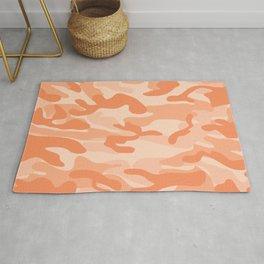 Light Orange Military Camouflage Pattern Rug