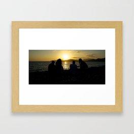 Sunset Gang Framed Art Print
