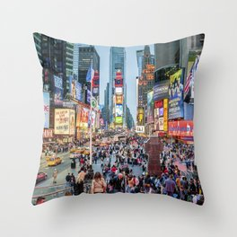 Times Square Tourists Throw Pillow
