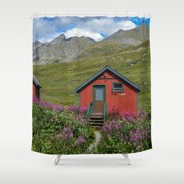 Hatcher_Pass Cabins - Palmer, Alaska Shower Curtain