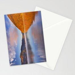 Lake Chuzenji, Japan at sunrise in autumn Stationery Cards