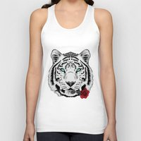 rose Tank Tops featuring Rose by Roland Banrevi