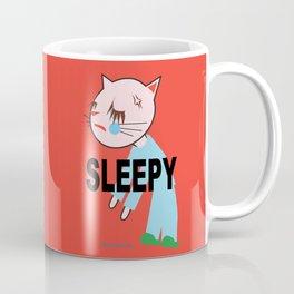 SLEEPY FASHIONISTA CATS Coffee Mug