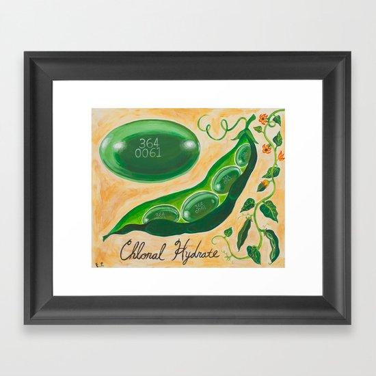 Pill Portraits 4: Chloral Hydrate Framed Art Print
