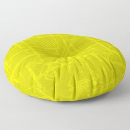 Carved squares and rhombuses on a yellow background. Floor Pillow