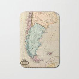 Map of Patagonia 1860 Bath Mat