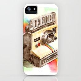 Vintage gadget series: Polaroid SX-70 OneStep camera iPhone Case
