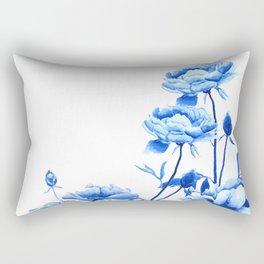 blue peonies Rectangular Pillow