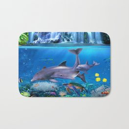 The Dolphin Family Bath Mat
