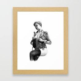 Leather Framed Art Print