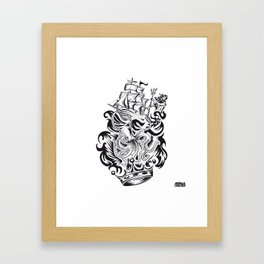 ONE INK OCTOPUS Framed Art Print