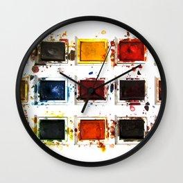 Watercolor palette Wall Clock